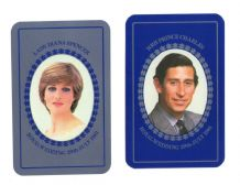 Collectible playing cardsPrincess Diana and Prince Charles Royal wedding .